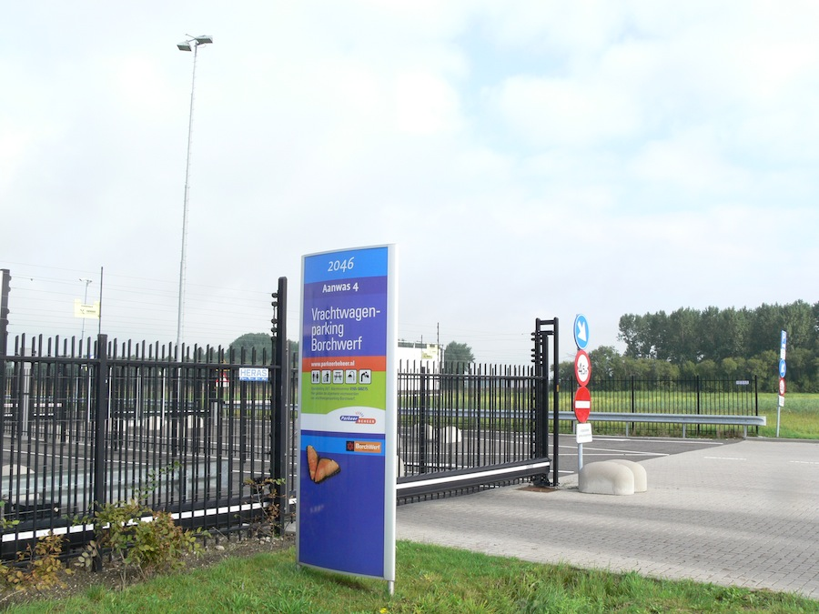 European Safety Category IV Truck Parking Facility at the Borchwerf II Business Area